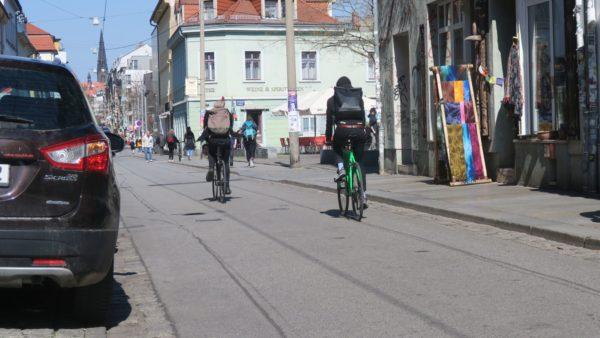 Ungefähr an dieser Stelle der Alaunstraße hat sich der Unfall ereignet.