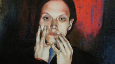 Karen Gäbler im Selbstporträt