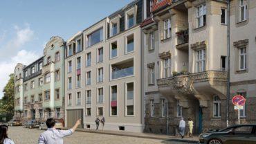 Projekt Katharinenstraße, Vorderseite - Architekturdarstellung: basisd GmbH