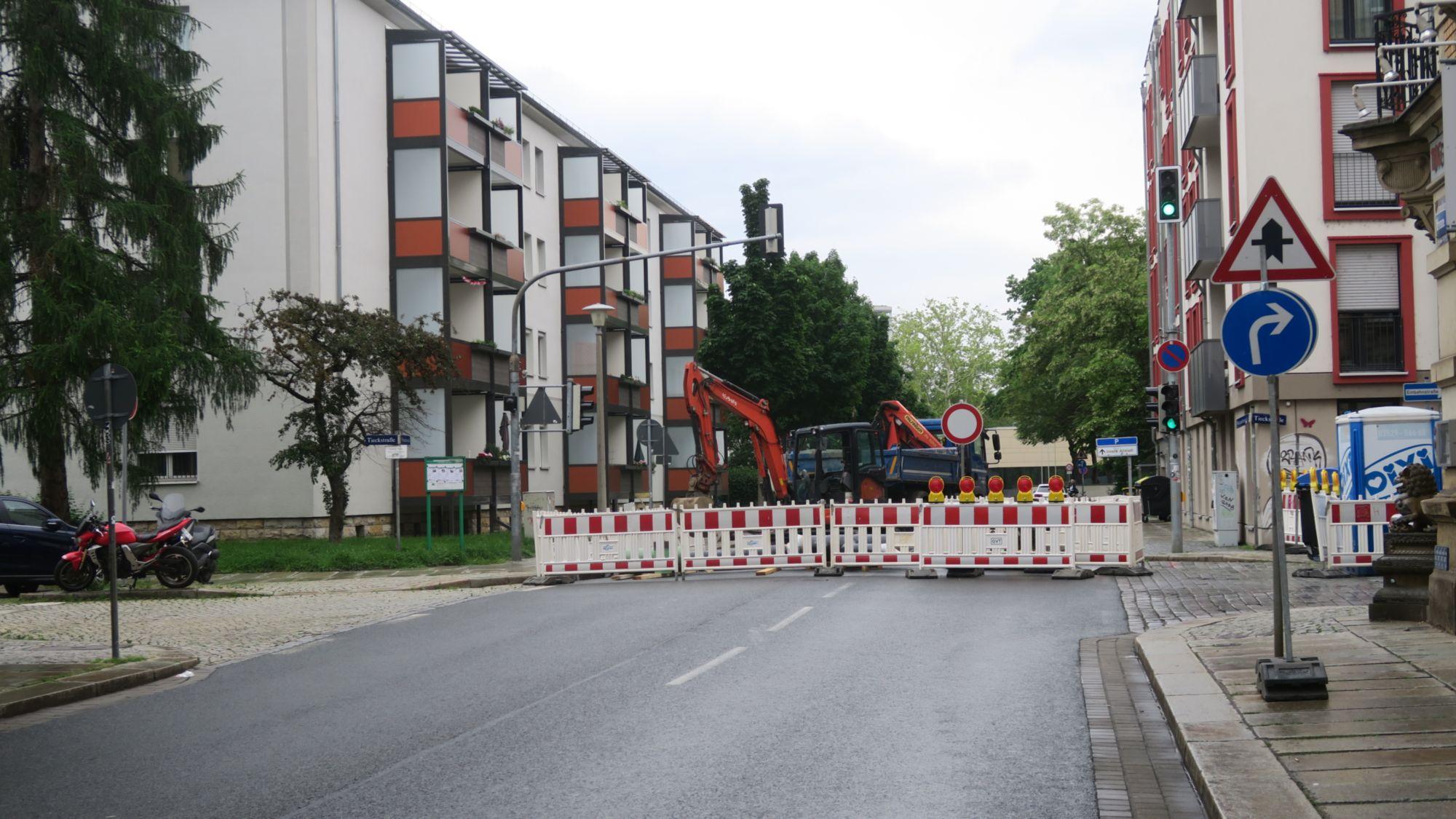 Weintraubenstraße gesperrt