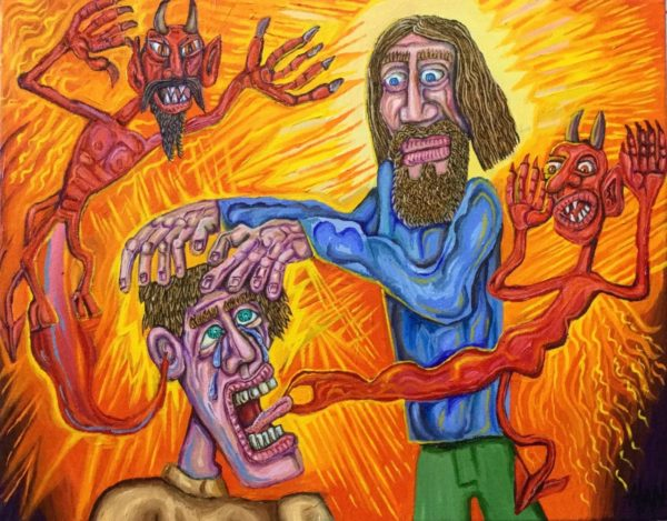 A youth with demons being healed - Alan Streets