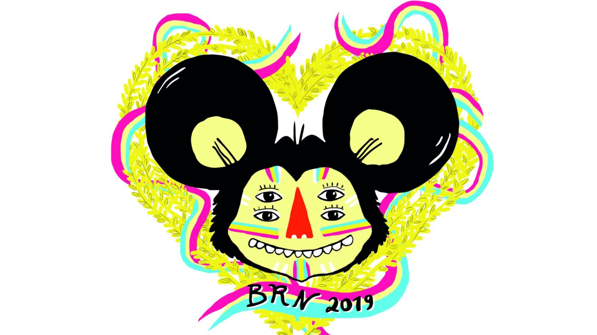Die diesjährige BRN-Maus hat die Zeichnerin Muah entworfen.