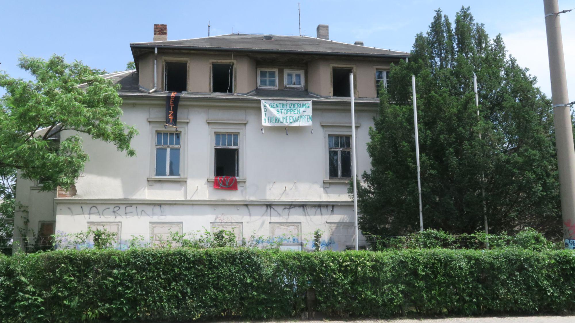 Hausbesetzung an der Königsbrücker Straße