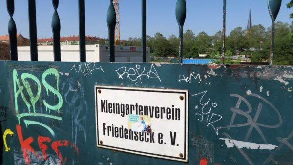 Der Kleingartenverein Friedenseck kann bleiben.