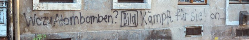 Hauswand-Botschaft - Foto: Klaus