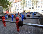 Kickertisch auf dem Spielplatz an der Ottostraße