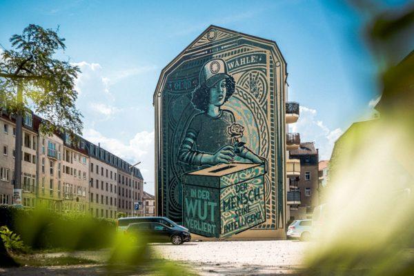Dresdens größte Wahlwerbung. Foto: Tobias Ritz