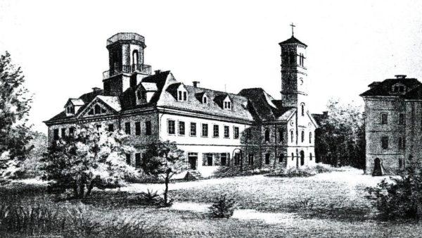 Diakonissenanstalt im Jahre 1863 - Zeichnung aus der Festschrift zum Jubiläum 1994