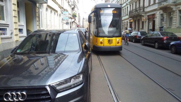 Kein Vorbeikommen auf der Rothenburger Straße