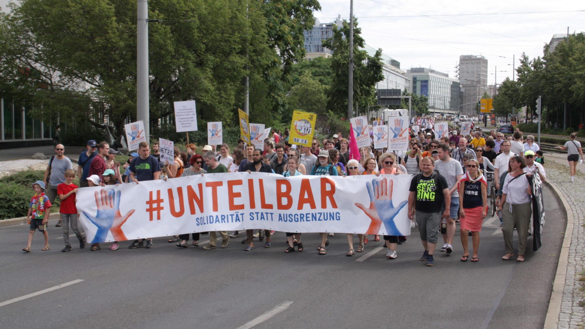 Die Demo in Leipzig (Foto: Dan Wesker)