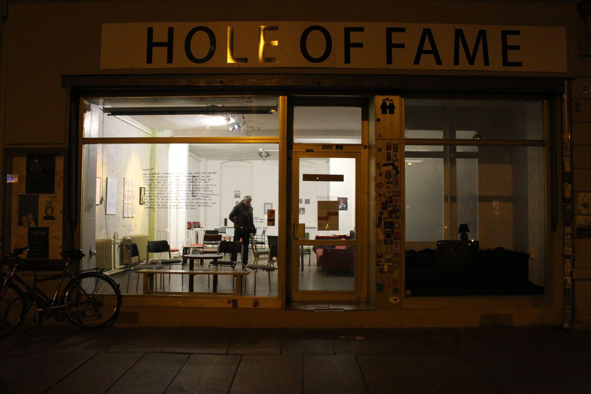Das Schaufenster des Hole of Fame. Foto: Philine