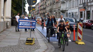 Die Unsicherheit für Radfahrende auf dem Bischofsweg wurde schon früher kritisitert. Foto: Nina