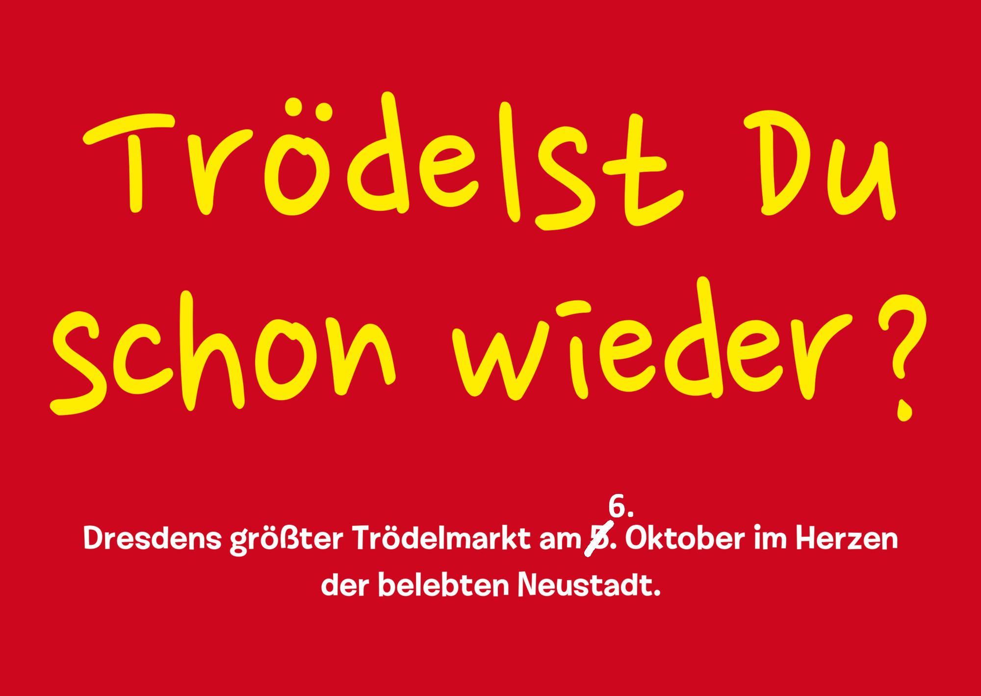 Trödelmarkt am 6. Oktober