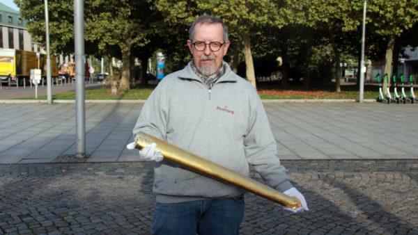 Kennt sich mit dem Goldenen Reiter aus: Restaurator Harald Straßburger.