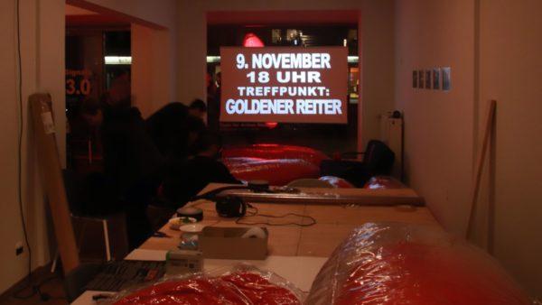 """9. November, ab 18 Uhr - Treffpunkt """"Goldener Reiter"""""""