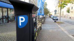 Parkscheinautomat an der Glacisstraße