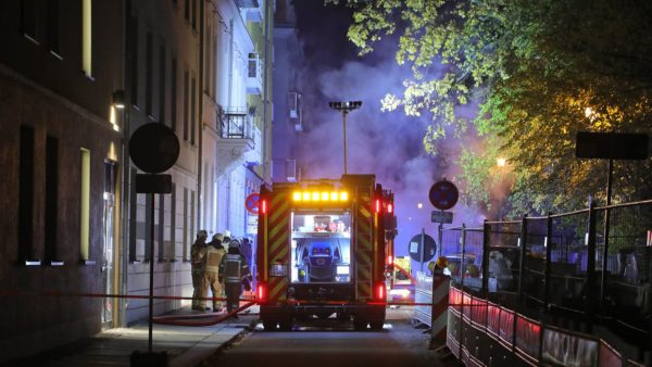 Feuerwehr im Einsatz auf der Holzhofgasse -Foto: Roland Halkasch