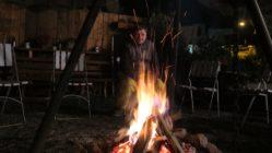 Gemütlichkeit am Lagerfeuer.