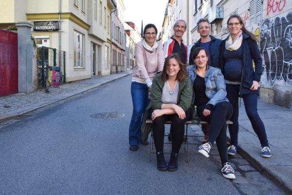 Das Projektteam: v.l. Julia Gerlach, Anna Betsch, Werner Becker, Uta Gensichen, Ralf Hupfer, Rosemarie Baldauf - Foto: Nicole Herzog