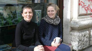 Die beiden Projektkoordinatorinnen von der Woche des guten Lebens: Judith Kleibs und Sindy Berndt (Foto: Uta Gensichen)