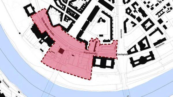 Die Pläne für das Gebiet werden vorgestellt.