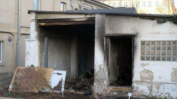 Lagerhalle zum zweiten Mal ausgebrannt.