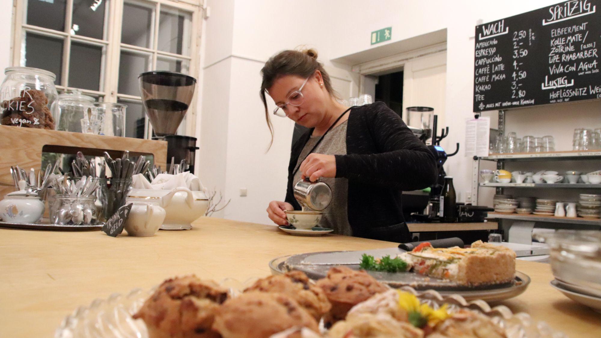 Sandy Csisko im Palais-Café