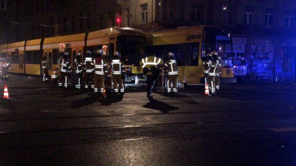 Bahn-Zusammenstoß auf der Bautzner Straße