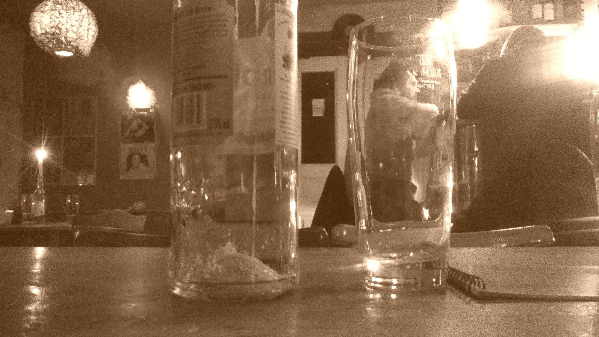 Wenn das Glas mal wieder leer ist.