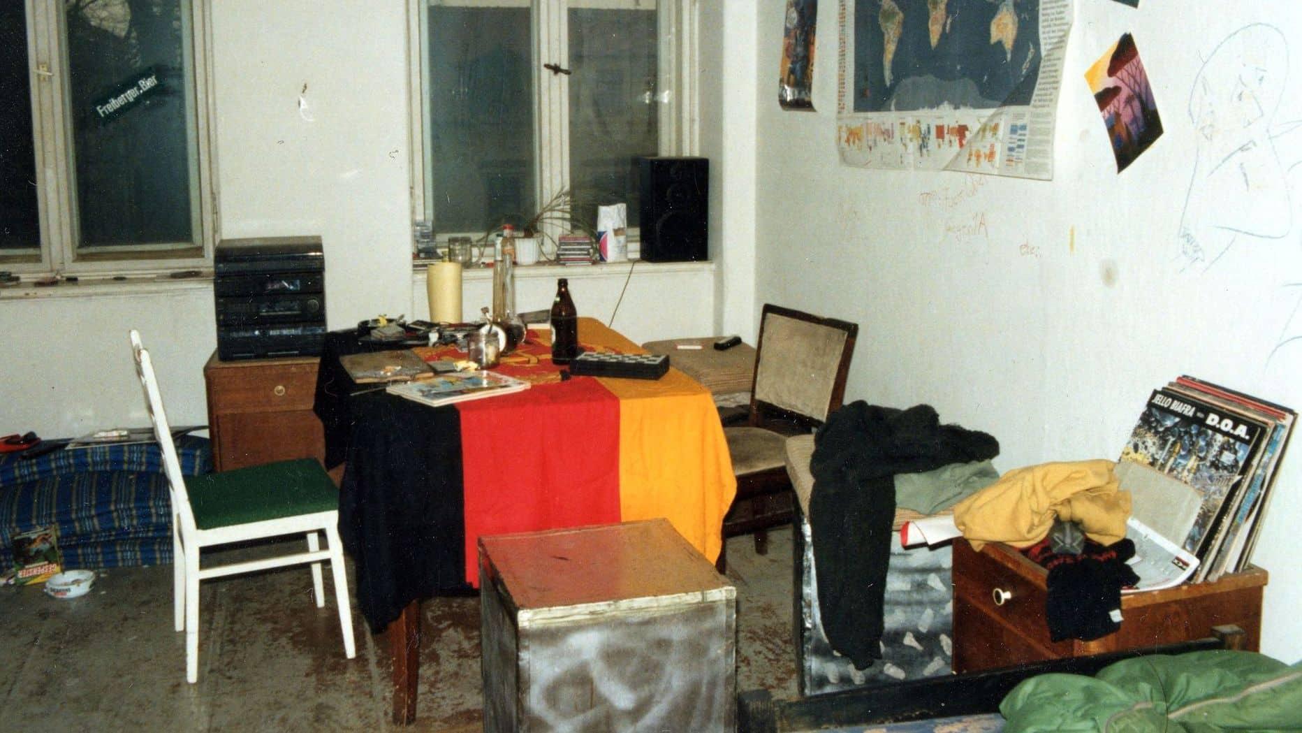 Wohnzimmer in der WG an der Königsbrücker Straße
