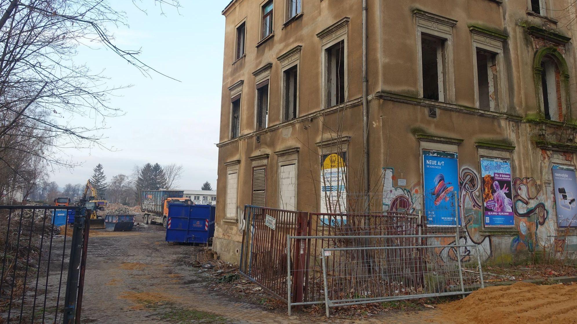 Das Haus an der Leipziger Straße 33a wird abgerissen. Foto: W. Schenk