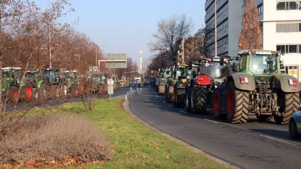 Auch auf der Albertstraße waren Zugfahrzeiuge abgestellt.
