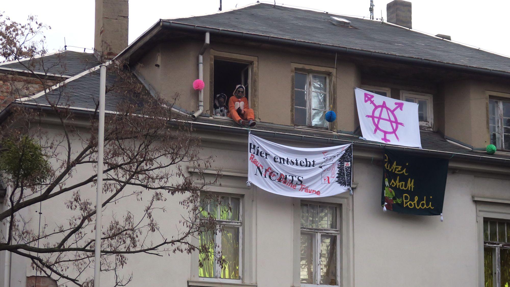Hausbesetzung auf der Königsbrücker Straße