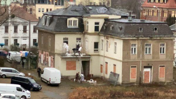 Die oberen Etagen werden zugemauert. Foto: Wir besetzen Dresden.