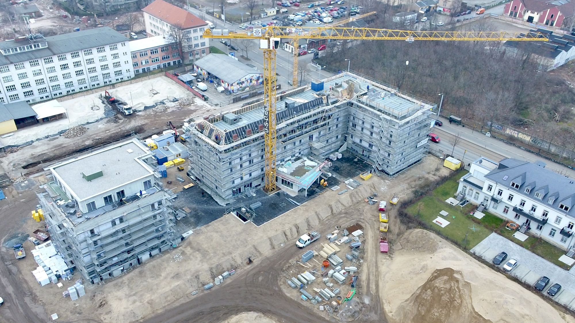 Das neue Hotel aus der Luft - Foto: USD-Immobilien