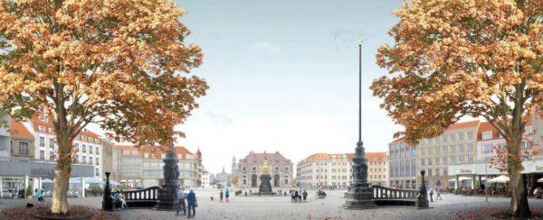 Visualisierung der Ansicht von der Hauptstraße aus.