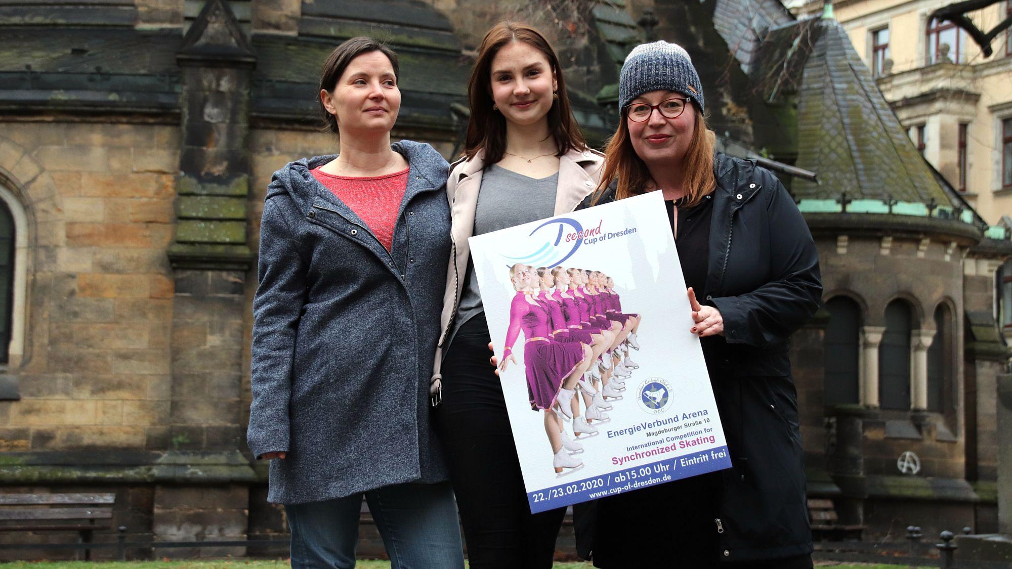 Die Organistorinnen mit einem ehemaligen Eisteufelchen. Susanne, Alina und Claudia. (v.l.)
