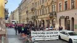 Nazifrei-Demonstration auf der Alaunstraße
