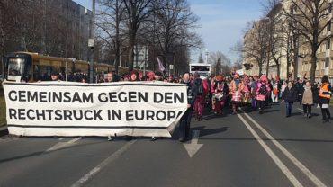 Nazifrei-Demo auf der Carolastraße