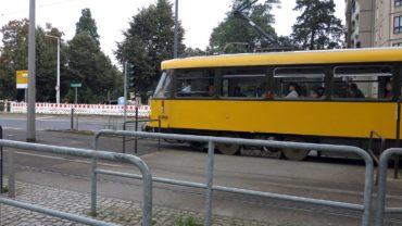 Umleitungen für die Straßenbahnen auf der Albertstraße. Foto: Archiv