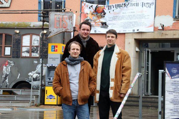 Reverberation-Crew Hannes, Robin und Julian (von links)