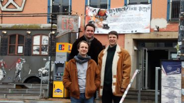 Reverberation-Crew Hannes, Robin und Julian (von links)