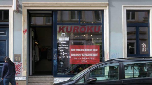 Ausverkauf im Kurōku auf der Rothenburger Straße