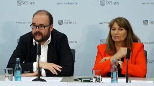 Bildungsminister Christian Piwarz (CDU) und gesundheitsministerin Petra Köpping (SPD)