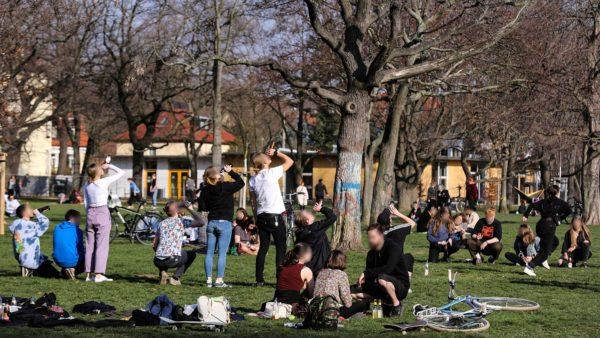 Frühlingserwachen auf dem Alaunplatz - trotz Corona - Foto: Kevin Müller