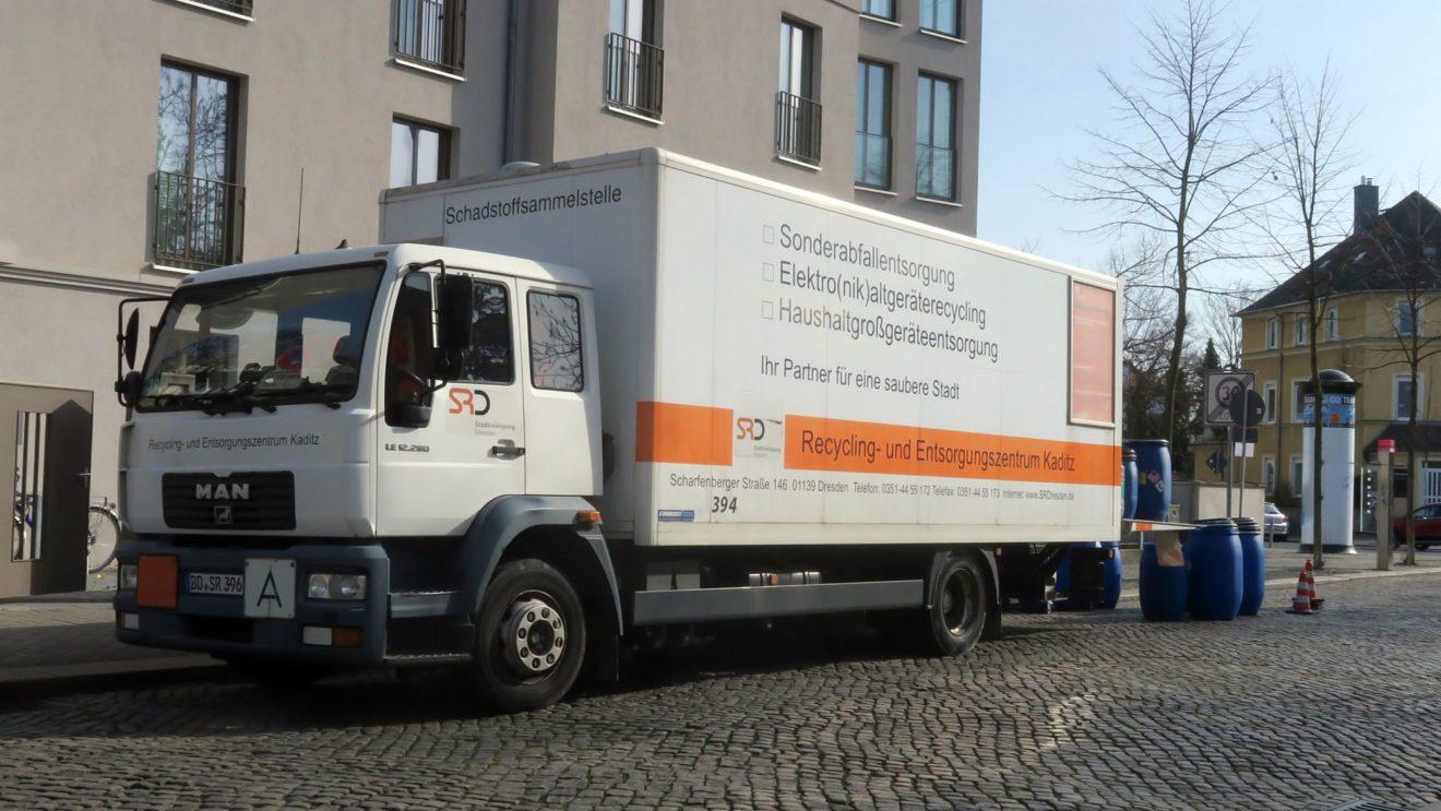 Schadstoffmobil an der Forststraße. Foto: Archiv