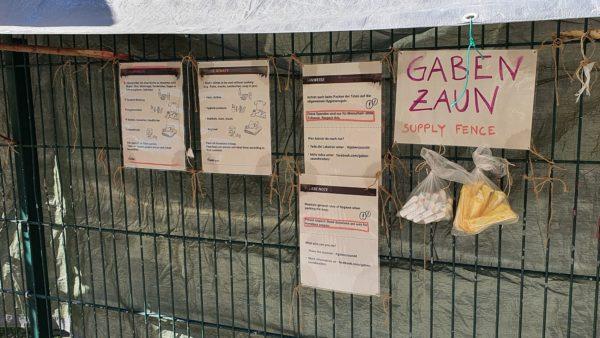 Gabenzaun an der Görlitzer Straße