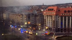Brand an der Albertstraße - Foto: Ralf Liebscher