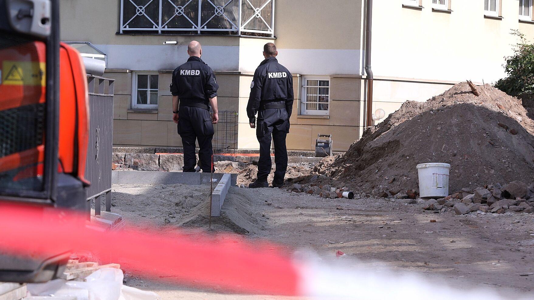 Kampfmittelbeseitigungsdienst im Einsatz an der Georgenstraße
