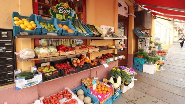 Endlich wieder Obst und Gemüse.